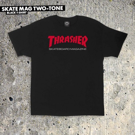THRASHER TEE MANCHES LONGUES FLAME - BLACK
