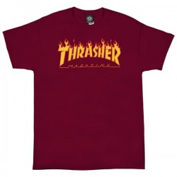 THRASHER TEE FLAME - CARDINAL RED