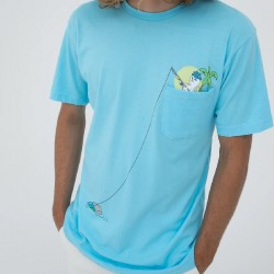 RIP TEE FOREIGN FISH POCKET - BLUE