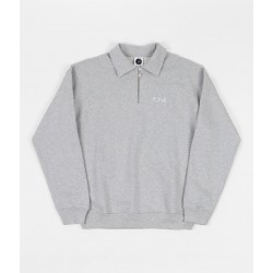 POLAR SW ZIP COLLAR - GREY