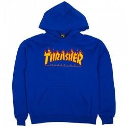 THRASHER SWEAT CAPUCHE FLAME - ROYAL BLUE.
