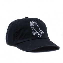 RIP CAP PRAYING HANDS DAD HAT - BLACK