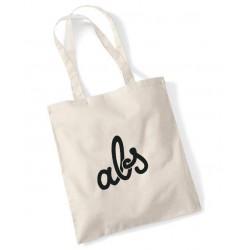 ABS BAG TOTE I LOVE MY SKATESHOP - BLACK