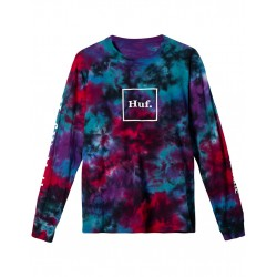 HUF TEEML PRISM WASH DOMESTIC - BLACK