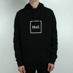 HUF SWEAT HOOD BOX LOGO - BLACK