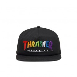 THRASHER CAP RAINBOW SNAPBACK - BLACK