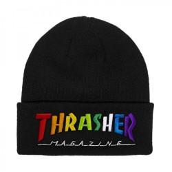 THRASHER BEANI RAINBOW MAG - BLACK
