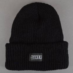 BAKER BEANIE BRAND LOGO - BLACK