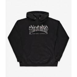 THRASHER SWEAT CAPUCHE FLAME - BLACK BLACK