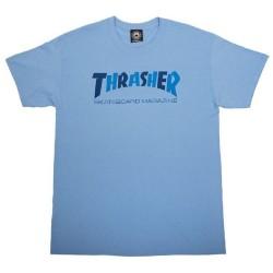 THRASHER TEE CHECKERS - CAROLINA BLUE
