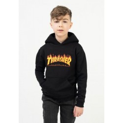THRASHER SWH FLAME YOUTH - BLACK
