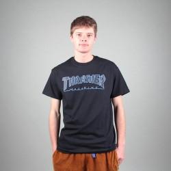THRASHER TEE OUTLINED - BLACK BLACK
