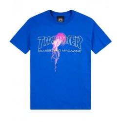 THRASHER TEE ATLANTIC DRIFT - ROYAL BLUE.