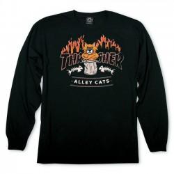 THRASHER TEEML ALLEY CATS - BLACK