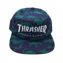 THRASHER CAP MAG LOGO SNAPBACK - DINO PRINT