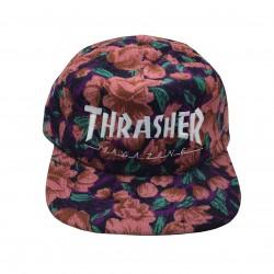 THRASHER CAP MAG LOGO SNAPBACK - PINK FLORAL