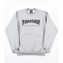 THRASHER SWEAT CREW SKATE MAG - GREY