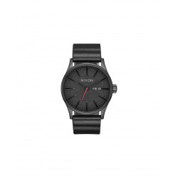 NXN WATCH SMALL TIME TELLER LEATHER SW - VADER BLACK