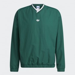 ADIDAS SW WIND PULLOVER - GREEN RED HIRE