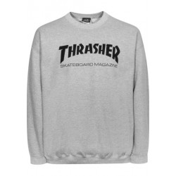 THRASHER SWEAT CREW SKATE MAG - GREY