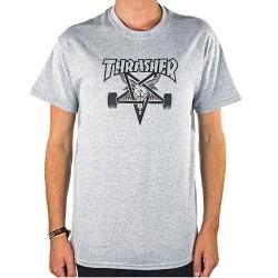 THRASHER TEE SHIRT SKATE GOAT - GREY