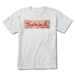 DIAMOND TEE FLAMINGO BOX - WHITE