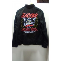 JACKER JKT SAVAGE CAT - BLACK