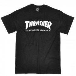 THRASHER TEE SKATE MAGAZINE - BLACK