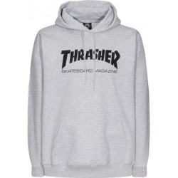 THRASHER SWEAT CAPUCHE SKATE MAG - GREY