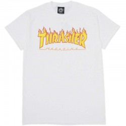 THRASHER TEE FLAME - WHITE