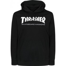 THRASHER SWEAT CAPUCHE SKATE MAG - BLACK