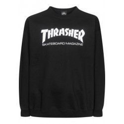 THRASHER SWEAT CREW SKATE MAG - BLACK